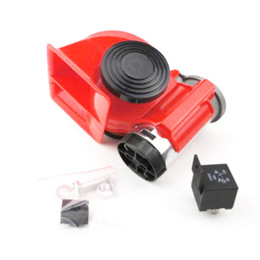 $enCountryForm.capitalKeyWord UK - Ting Ao 1PC 12V Red Compact Car Snail Dual Tone Electric Pump Siren Loud Air Horn Truck Advanced Alarm Yacht Motorcycle Boat Off Road Vehicl