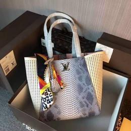 $enCountryForm.capitalKeyWord NZ - 2019 M42292 Scarf Real Calfskin Gray White Fashion Shoulder Bags Shopping Bag Hobo Handbags Top Handles Boston Cross Body Messenger Shoulder