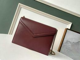 $enCountryForm.capitalKeyWord Australia - New vintage fashion single shoulder bag woman envelope chain bag real leather Classic Burgundy double side chain cross body bag