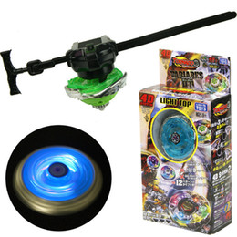 Chinese  New Style 4D Light Top Colorful Luminescence Alloy Beyblade Metal Fusion With Launcher Alloy Bayblade with Measuring Tape Transmitter manufacturers