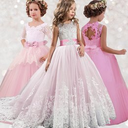 elegant kids clothes Canada - Elegant Princess Dresses 8-14 Years Wedding Kids Dresses For Girls New Year Party Costume First Communion Dress Children Clothes