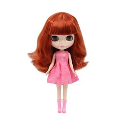 956c1a240e6 Plastic Eyes For Dolls UK - Factory Blyth Nude Doll Red Brown Long Hair  With No
