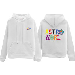 Wholesale crop hoodie resale online - Travis Scott Hoodie Color Crop Top Women Femme Clothes Sudadera Hoodies Pullover Sweatshirts Striped Sweatshirt Astro World