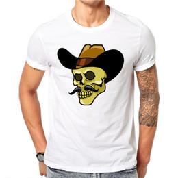 Beautiful T Shirts NZ - 2019 Summer Mens New Casual Round Neck Print Men T Shirt Fashion Men Slim Skull Beautiful Print Casual Short-sleevedmen clothes