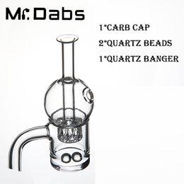 $enCountryForm.capitalKeyWord NZ - 25mm OD Quartz Banger with Cyclone riptide Carb Cap with 2 Quartz Beads Set for sale for Glass Bong Dab Oil Rigs