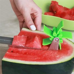 StainleSS Steel tongS online shopping - Watermelon Slicer Stainless Steel Knife Corer Tongs Windmill Melon and Cantaloupe Fruit Slice Cutter Cutting Fruit Vegetable Tools