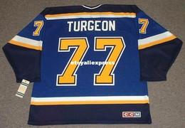 $enCountryForm.capitalKeyWord Australia - custom Mens PIERRE TURGEON St. Louis Blues 1999 CCM Jerseys Home Cheap Retro Hockey Jersey