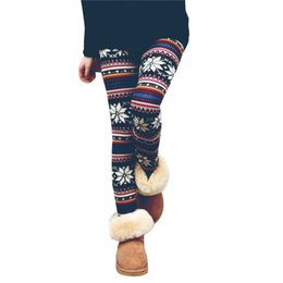9ca3fda731f Christmas Snow Elk Leggings Women Lady Casual Elasticity Skinny Printed  Stretchy Pants Leggings Plus Size  F