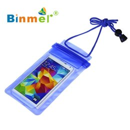 Swimming Pack Australia - Binmer 1pc Travel Swimming Waterproof Bag Case Cover For 5.5 Inch Cell Phone 0410 Drop Shipping C19041301