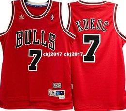 $enCountryForm.capitalKeyWord Australia - TONI KUKOC #7 Sewn high quality RED Retro Vintage Top JERSEY Mens Vest Size XS-6XL Stitched basketball Jerseys Ncaa