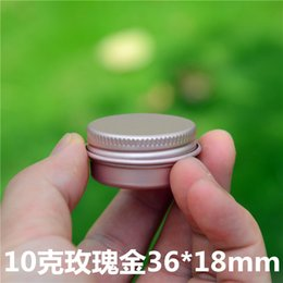 Metal Spice Jars Australia - 100pcs lot 10g Gold Rose Empty Aluminum Cream Jar Tin Cosmetic Lip Container 10ml metal Pot Bottle Screw Cap