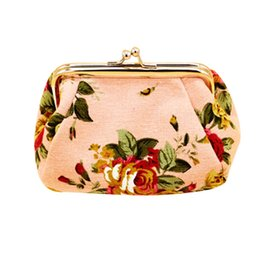 Chinese  Women Lady Retro Vintage Flower Small Canvas Coin Purse Cute Wallet Lady Small Wallet Hasp Purse Bag Clutch Bag Hot Sale 2019 manufacturers