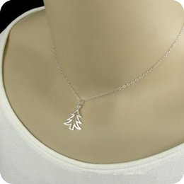 Necklaces Pendants Australia - 1 hollow Christmas tree necklace life tree pendant necklace hollow plant big tree necklace for Christmas best holiday gift jewelry