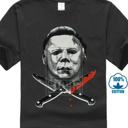 $enCountryForm.capitalKeyWord Australia - Authentic Halloween Movie Michael Myers Knives Face T Shirt S M L Xl 2xl New