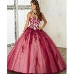 newest quinceanera dresses Australia - 2019 Newest Quinceanera Dresses Sweetheart vestidos de quinceaner Lace Appliques Tulle Ball Gown Prom Dress sweet 16 dresses