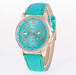 $enCountryForm.capitalKeyWord Australia - Hot sales Unisex Geneva Leather PU Quartz Watches Men Women fashion casual Roma Men's Watch Casual dress rose gold wrist watches