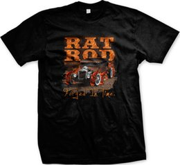 88f16aaab05 Rat Rod Motorworks Forged In Time Hot Rod Vintage Car Mens T-shirt