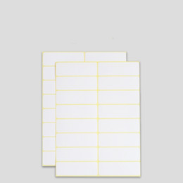 White Blank Sticker Paper Australia - Stock multi-sizes blank white paper labels printer label sticker by sheet with best price rectangle blank handwritten labels