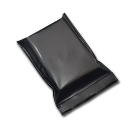 opaque ziplock bags Canada - Black Opaque Zip Lock Storage Packaging Bags Self Seal Zipper Packing Pouches Resealable Ziplock Sundries Package Bags
