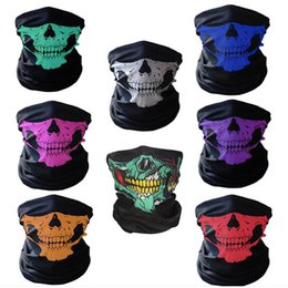 skeleton masks bicycle UK - Event & Party Halloween Scary Mask Festival Skull Masks Skeleton Motorcycle Bicycle Multi Masks Scarf Half Party Face Mask R0652