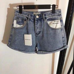 Discount bl dress - summer dresses women shorts jean shorts yoga shorts pantalones cortos New pocket letter printed curled jeans jeans women