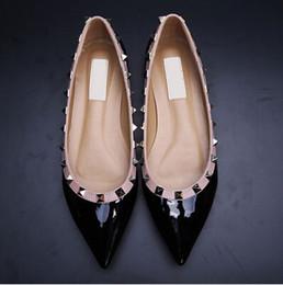 Toptan satış gerçek ayakkabılar! B050 terzi 34/40/41/42 hakiki deri çıplak sivri daireler ayakkabı balerinler lüks tasarımcı yaptı