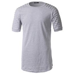 6bb82589c0d2 Euro Size 2019 Summer Hip Hop Streetwear Oversized T-shirt Destroyed Ripped  Raglan Short Sleeve T Shirt Men Side Zipper Tshirt
