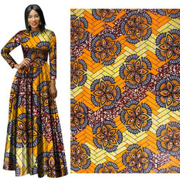 Wholesale Batik Fabric Australia - African Wax Print Fabric new yellow Wax Hollandais Fabric Ankara African Batik 100% Breathable Cotton Dot Fabric