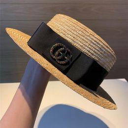 Fedora white man online shopping - 2019 Brand Straw Hats Fedora Soft Vogue Men Women Stingy Brim Caps black white stripe Choose