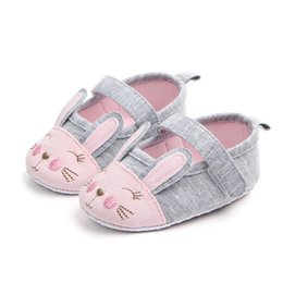 b3f331febfa0 Fashion Mary Jane Ballet Baby Toddler First Walkers Crib Soft Soled  Anti-Slip Cute Rabbit Shoes Infant Shoes High Quality