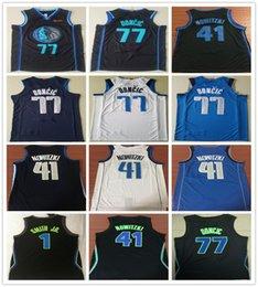 2019 New City Edition Navy Blue 77 Luka Doncic Jersey White Black Stitched  1 Dennis Smith Jr. 41 Dirk Nowitzki Jerseys Shirts d54a4dcc7