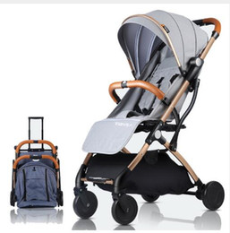 lightweight carriage stroller 2019 - Folding Lightweight Baby Stroller For Plane Travel Ultra-light Baby Carriage Prams For Kids Newborns Pushchair cheap lig