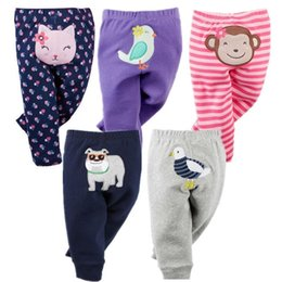 Infant Boys Leggings Australia - 5pcs Unisex Cotton Baby Pants Spring Autumn Cartoon Baby Boy Clothes Newborn Bebe Trousers Infant Clothing Toddler Girl Leggings Y19061303