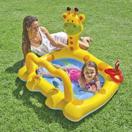 $enCountryForm.capitalKeyWord Australia - inflatable pool baby child pvc chair children's swimming pool for kids infant bath inflatable children home giraffe plastic