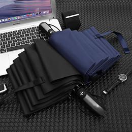$enCountryForm.capitalKeyWord Australia - 10 bone black plastic automatic folding business amphibious umbrella umbrella windproof reinforcement rain impact cloth bright