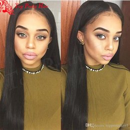 $enCountryForm.capitalKeyWord NZ - Human Peruvian Lace Front Wig With Baby Hairs Long Straight Virgin Hair Middle Part Glueless Full Lace Wigs High Ponytail For Black Women