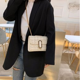 port bags Australia - Fashionable inclined chain pack Yangqi Port Wind-free Korean version of one-shoulder small square bag