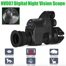 PARD NV007 Digital Night Vision Âmbito Câmeras 5 w DIY / IR / Infravermelho Caça Night Vision Riflescope 200 M Faixa Noite Rifle Optics venda por atacado