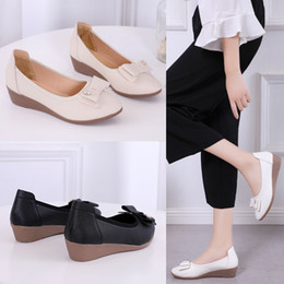 77bf461ccc1 Designer Dress Shoes Fashion Women s Wedge New Arrival 2019 Nurse Wedge  Casual Loafers Soft Slip On Moccasins Lady Driving 4011