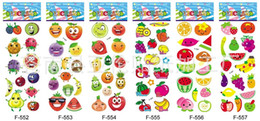 $enCountryForm.capitalKeyWord UK - 100 Sheets lot Cute Fruits and Vegetables DIY Stickers Cartoon Children Food Stickers Toys PVC Scrapbook Gifts For Kids