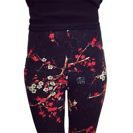 $enCountryForm.capitalKeyWord NZ - Print Hot Flower Leggings Leggins Plus Size Legins Guitar Plaid Thin Pant Fashion Women Aptitud Trousers K092