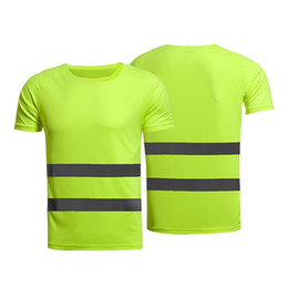 $enCountryForm.capitalKeyWord Australia - new Reflective t-shirt Summer Fluorescent Yellow Orange High Visibility Safety Work Running Shirt Summer Breathable Work T Shirt