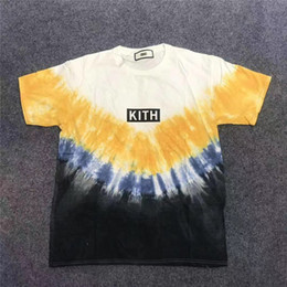 Wholesale best man tee shirt for sale – custom Tie dyeing KITH T shirt Men Women Best Quality T Shirt Mens Kith T shirt Top Tees