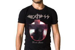 Großhandel Death SS Black Mass 1989 Jesus Album Cover T-Shirt Kurzarm Billig Verkauf Baumwolle T-Shirt Rundhals Männer Top Tee