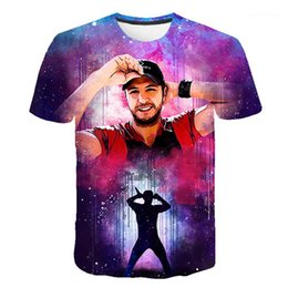 tee 3d Australia - Tshirts Casual Loose O Neck Pullover Clothing for Man Fashion American Singer 3D Tees Mens Designer Short Sleeve
