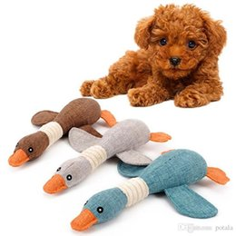 $enCountryForm.capitalKeyWord NZ - 12.2'' Potala Stuffed Squeaking Duck Dog Toy Plush Toys Puppy Honking Duck for Dogs pet chew squeaker squeaky toy Stuffed Animals