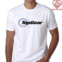 Neck Gear Australia - Fashion T Shirts Summer Straight 100% Cotton Short Men Top Gear Crew Neck Short-Sleeve T Shirts