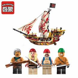 Pirate Block Set Australia - building blocks set 368pcs Enlighten pirates ship Marauder building block set Kids Educational Bricks Toys brinquedos legeod