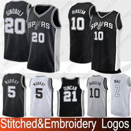 b6369f22741 San Antonio 10 DeMar DeRozan Spurs Jersey 9 Tony Parker 20 Manu Ginobili 21  Tim Duncan Basketball Jerseys 100% Stitching