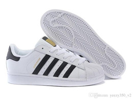 Metal Sneakers Australia - Free Shipping Superstar White Black Pink Blue Gold Superstars 80s Pride Sneakers Super Star Women Men Sport Casual Shoes EU SZ36-45